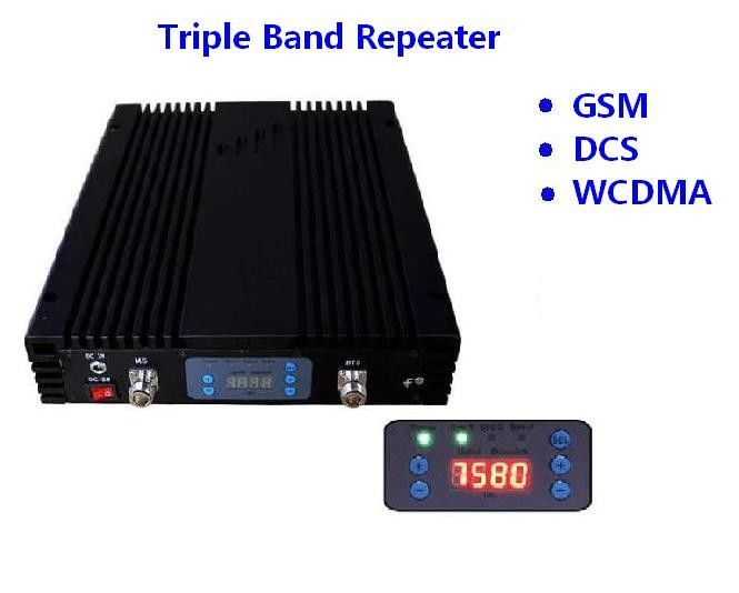 GSM DCS WCDMA Band Mobile Signal Repeater 27dBm Coverage 3000sqm ISO Approval
